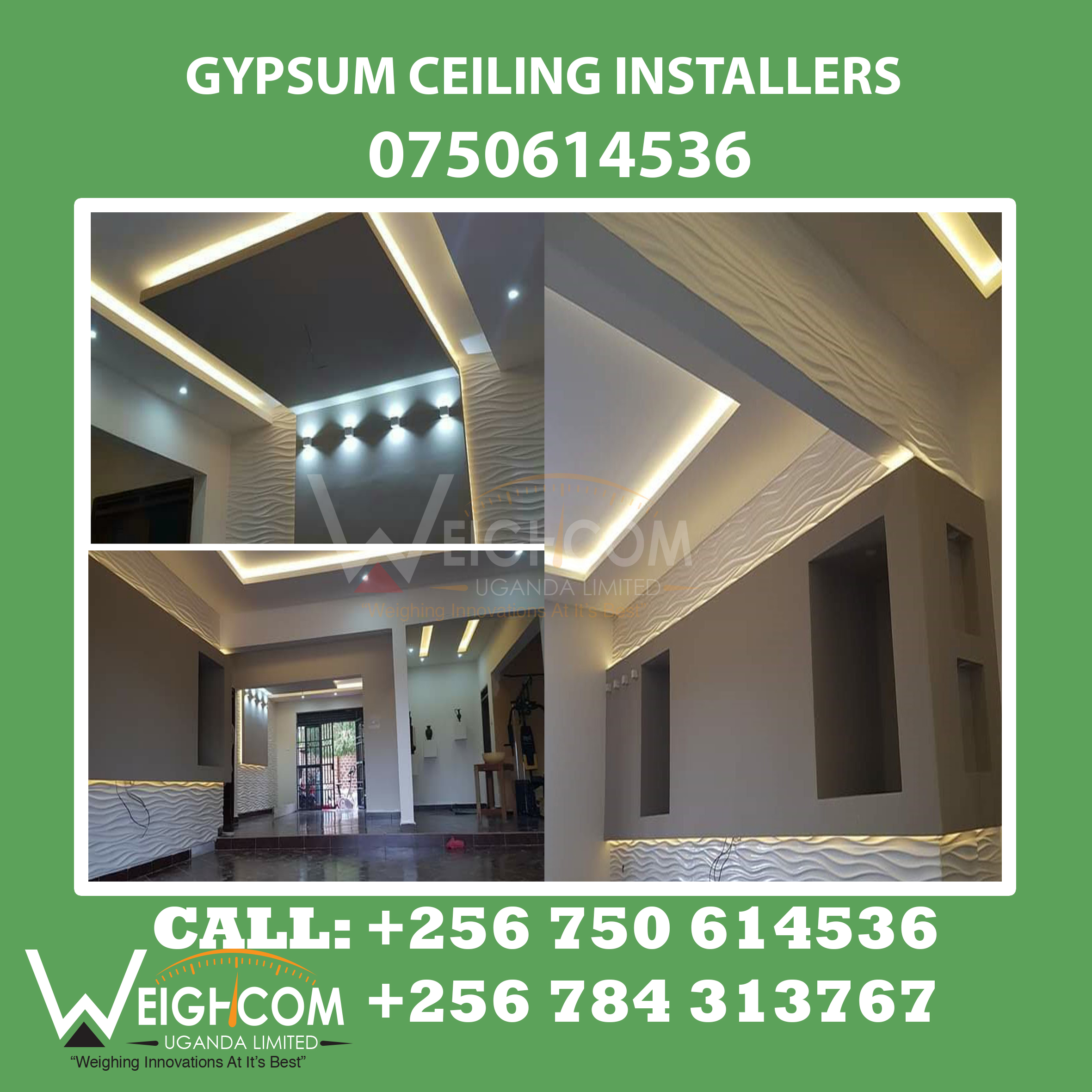 who designs gypsum ceilings in Kampala? we are here.